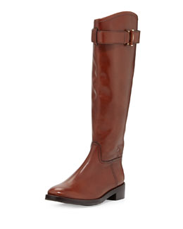 Tory Burch Grace Leather Riding Boot, Sienna