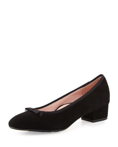 Freed Suede Low-Heel Pump