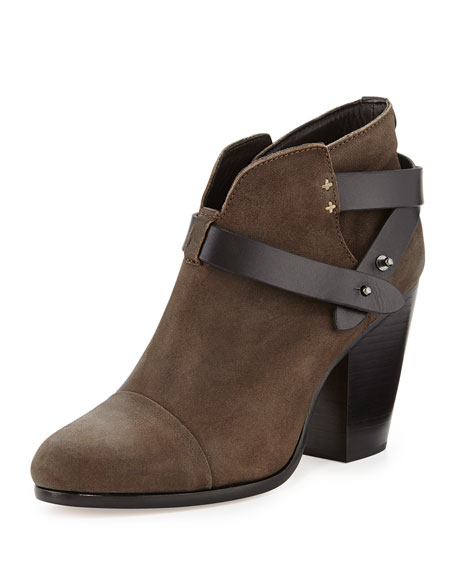 Harrow Leather Ankle Boot, Stone