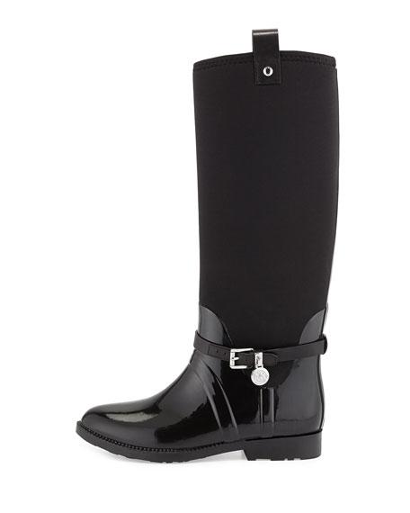 Charm Stretch Rain Boot, Black