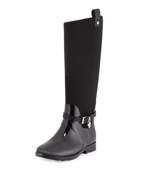 MICHAEL Michael Kors Charm Stretch Rain Boot, Black