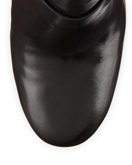 Lesley Platform Moto Bootie, Black