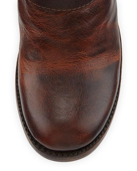 Bolo Triple-Buckle Ankle Boot, Cognac