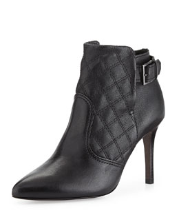 Tory Burch Orchard 85 MM Quilted Bootie, Black