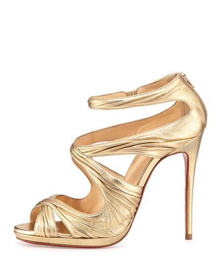 Kasia Metallic Red Sole Sandal