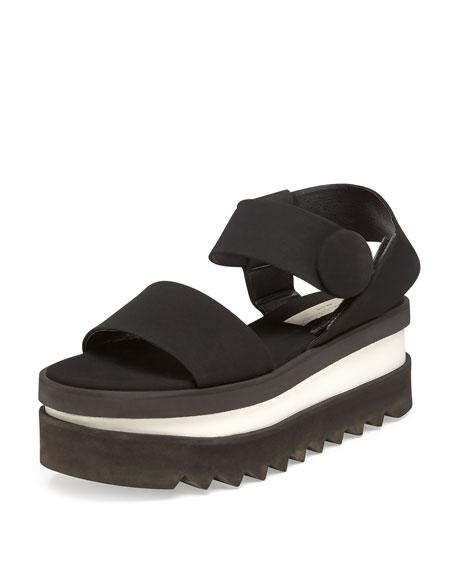Stella McCartney Triple Platform Sandal, Noir