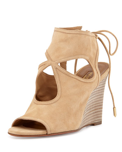 Sexy Thing Wedge Sandal, Nude