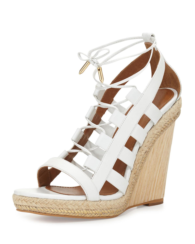 1fbf4880fa10 Aquazzura Amazon Lace-Up Espadrille Sandal
