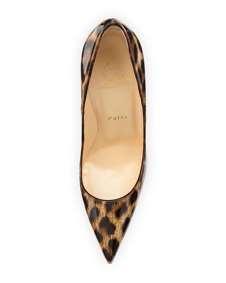 Christian Louboutin So Kate Leopard-Print Patent Red Sole Pump