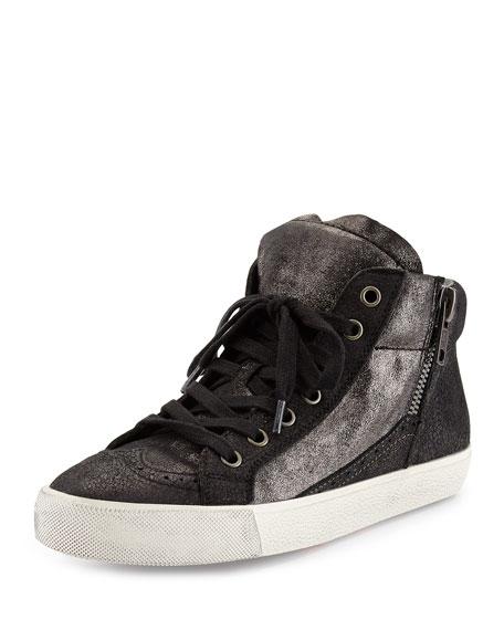 Spot Single Chain Sneaker, Black Graphite