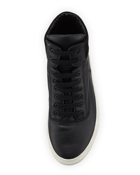 Newman Leather High-Top Sneaker