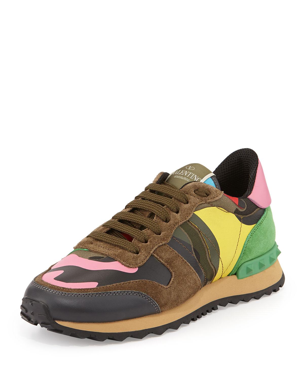 312d51471c2 Valentino Garavani Psychedelic Camouflage Sneaker