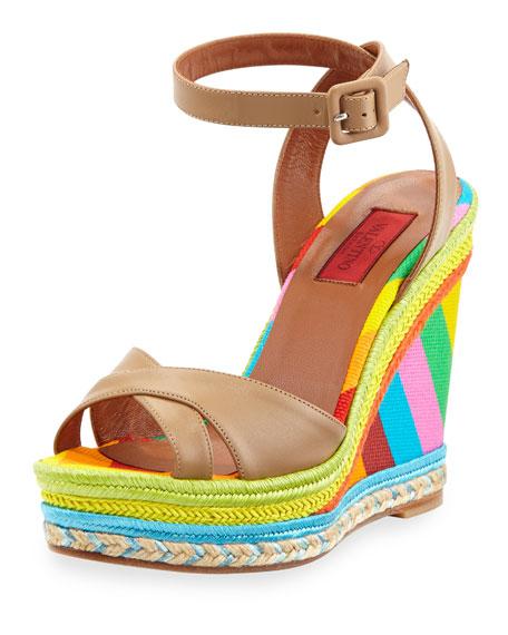 bf9402d09bb Multicolor Espadrille Wedge Sandal