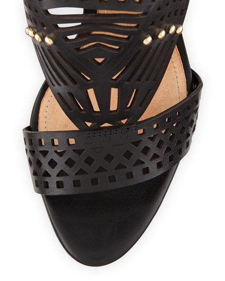 Schutz Brasiliana Convertible Heel Sandal, Black