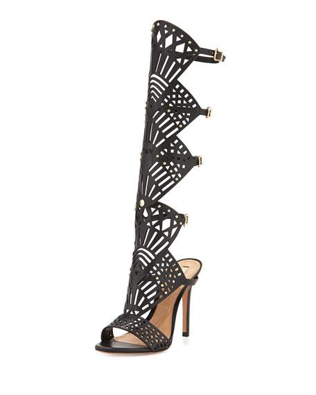 Schutz Schutz Brasiliana Convertible Heel Sandal, Black