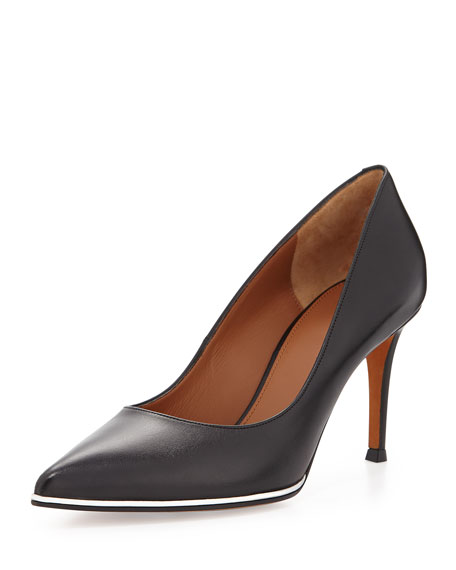Givenchy Pointed-Toe Leather Pumps outlet wide range of mIbk3Hdw