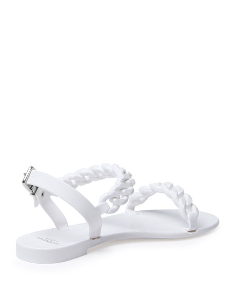 7fe98613b12f Givenchy Jelly Chain-Link Flat Sandal