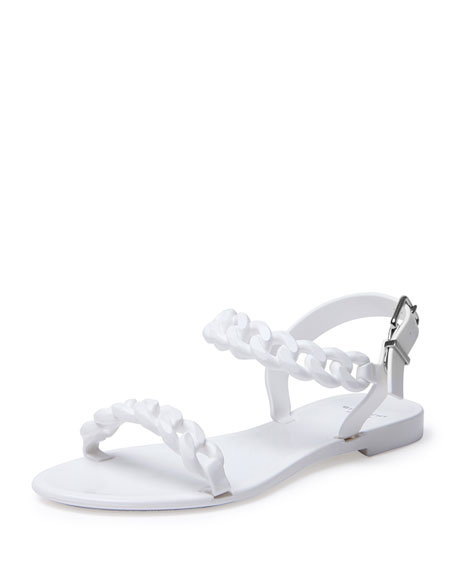 Givenchy Jelly Chain-Link Flat Sandal