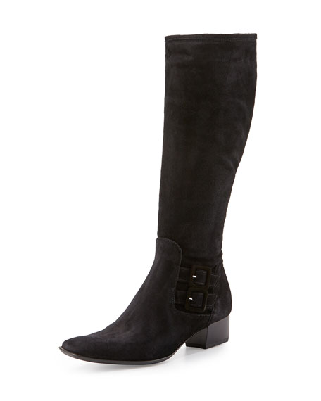 Sesto MeucciDelice Suede Knee Boot, Black