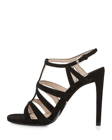 Prada Suede Caged Sandals free shipping fashionable 3lPTQysOsM