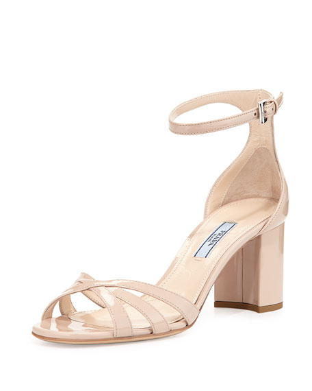 Patent Ankle-Strap Sandal