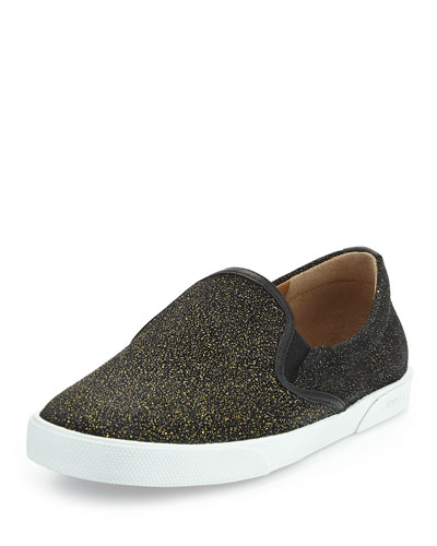 Demi Glittered Skate Shoe, Gold