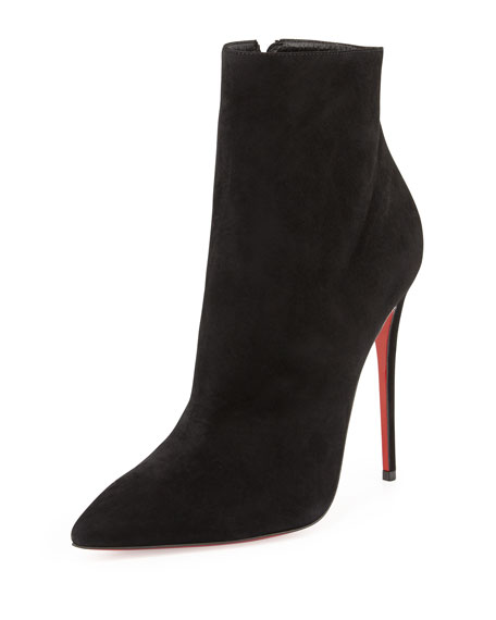 So Kate Suede Red Sole Bootie, Black