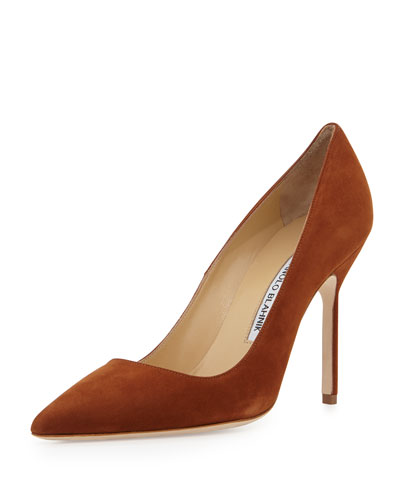 BB Suede 105mm Pump, Cognac