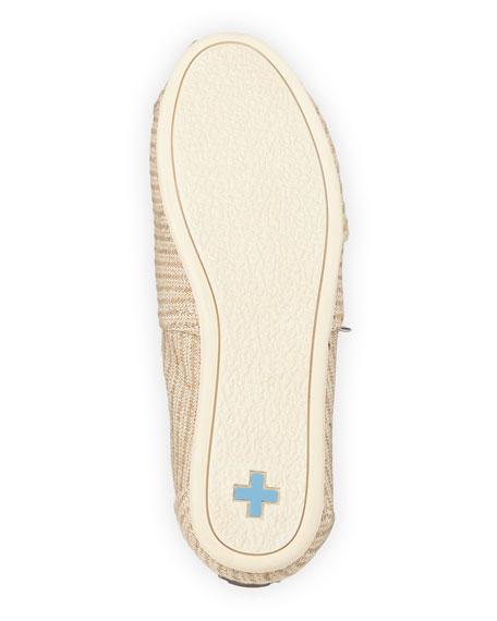 Woven Metallic Slip-On, Ivory