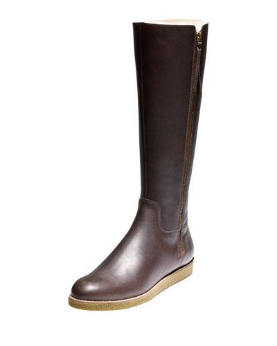 Auden Tall Leather Boot, Chestnut