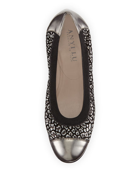 Cate Cheetah-Print Ballerina Flat