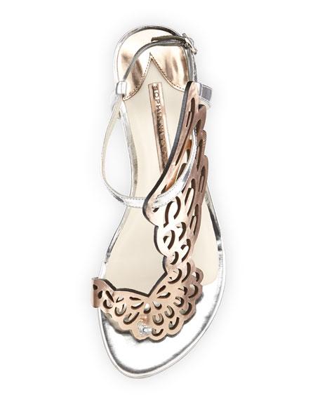Sophia Webster Seraphina Angel-Wing Sandal, Rose Gold/Silver
