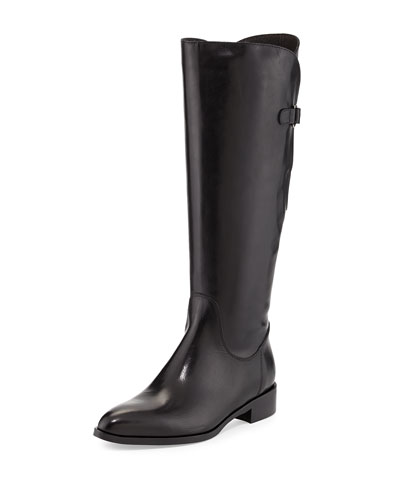 Blondie Leather Riding Boot, Black