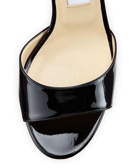 Kayden Patent Platform Sandal, Black