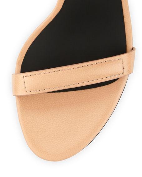 Antonia Lizard-Print Leather Sandal, Sandstorm Nude