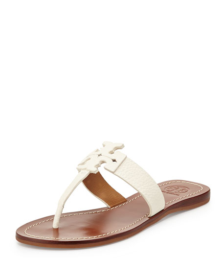 Moore Leather Thong Sandal, Ivory