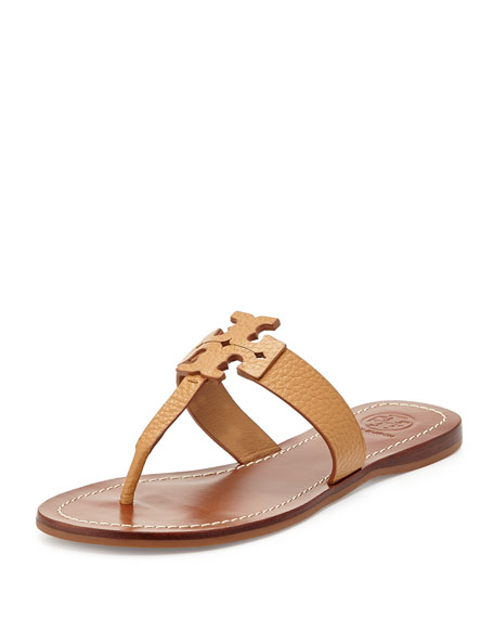 Image 1 of 4: Moore Leather Thong Sandal, Royal Tan