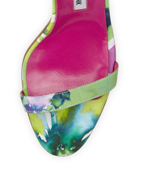 Eufida Floral-Print Fabric Sandal