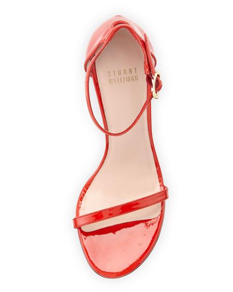 Stuart Weitzman Nudistsong Patent Sandal, Pimento