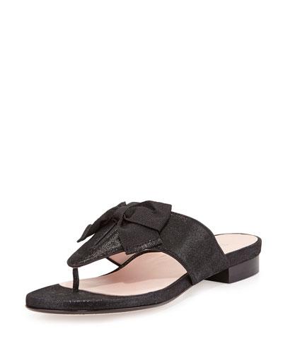 Izze Bow Thong Sandal, Black