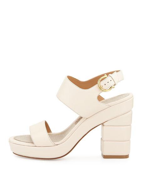 Madrina Chunky Heel Sandal, Seta