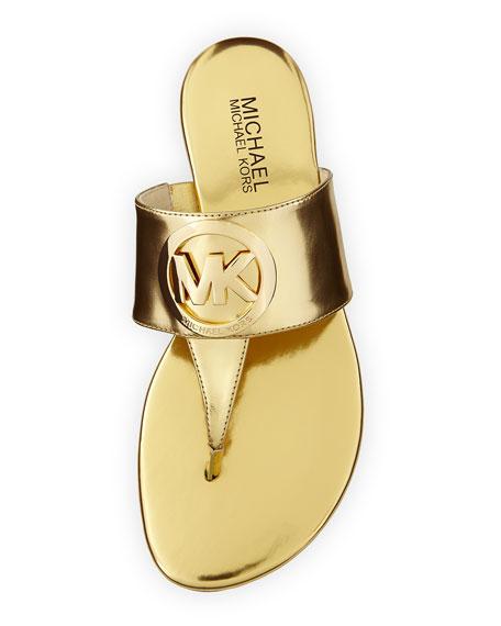 7cdd261b0f6885 MICHAEL Michael Kors Racquel Logo Thong Sandal