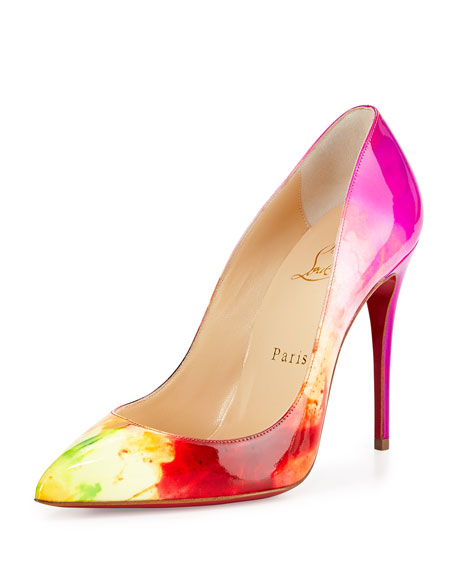 Christian Louboutin Pigalle Follies Patent Point-Toe Red Sole Pump ...