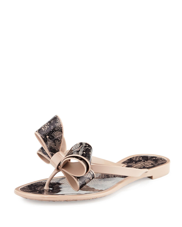af1c4b6c09861 Valentino Garavani PVC Lace Flip-Flop Sandal