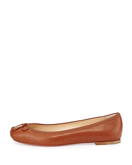 Rosella Napa Leather Ballet Flat, Brown