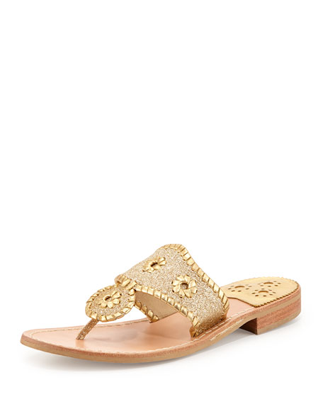 Jack Rogers Sparkle Thong Sandal, Gold