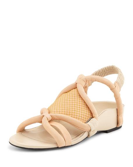 3.1 Phillip Lim Marquise Tubular Strappy Sandal, Peach