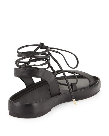 Susie Leather Gladiator Sandal, Black