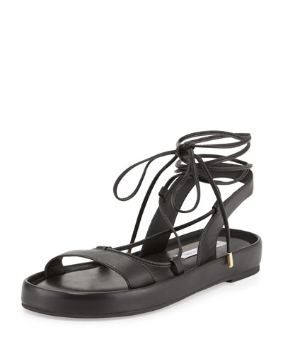 Susie Leather Gladiator Sandal, Black
