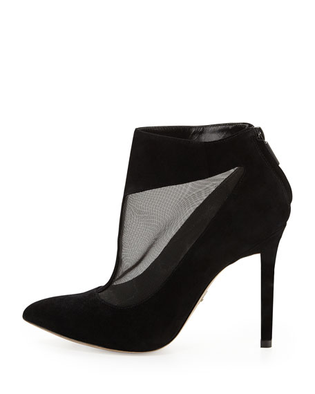 Zabel Suede and Mesh Bootie